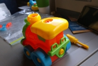 Try to find toys you can take apart and reassemble